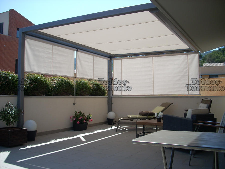 Toldo veranda en madrid alcorc n m stoles pozuelo leganes for Toldo horizontal terraza