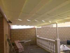 Instalación de pérgola en vivienda de Arroyomolinos